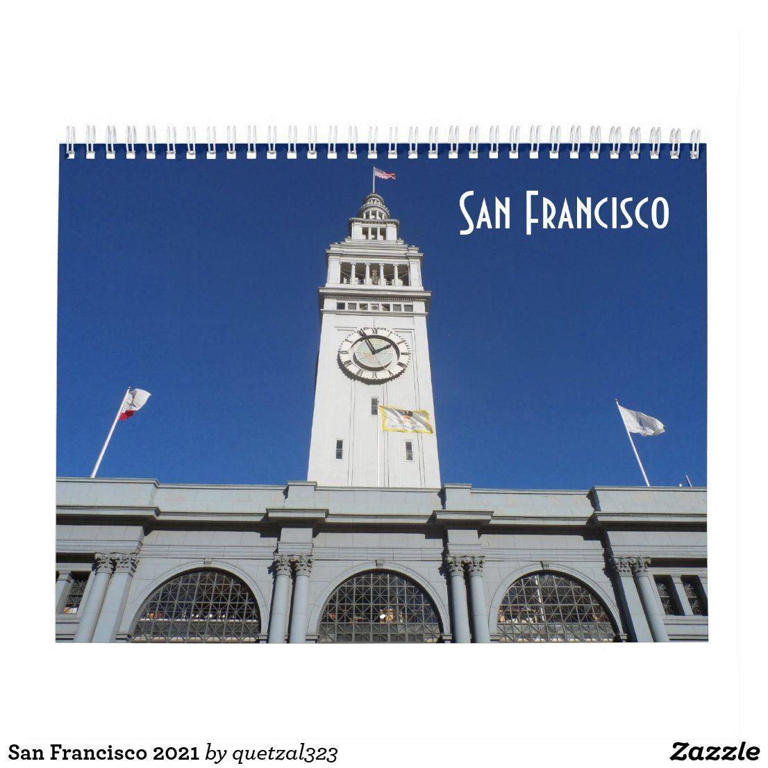 San Francisco Christmas Events 2021 San Francisco 2021 Calendar Zazzle Com 2021 Calendar Custom Holiday Card Holidays And Events