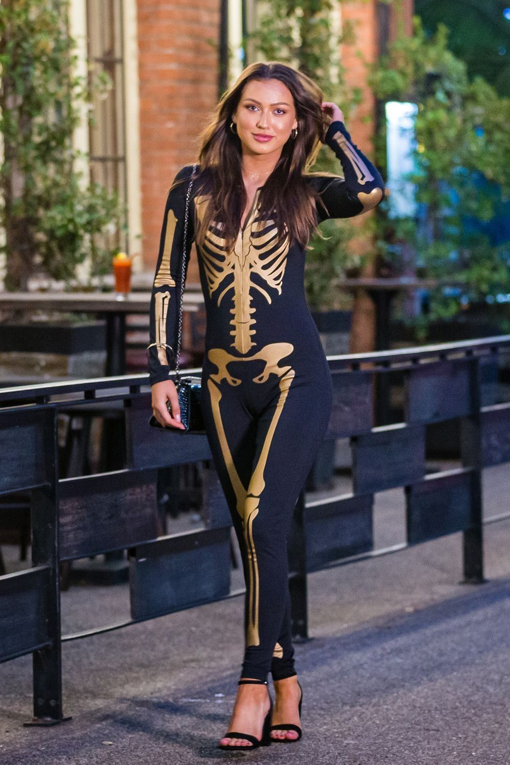 Gold Skeleton Costume Women's Halloween Outfits Tipsy