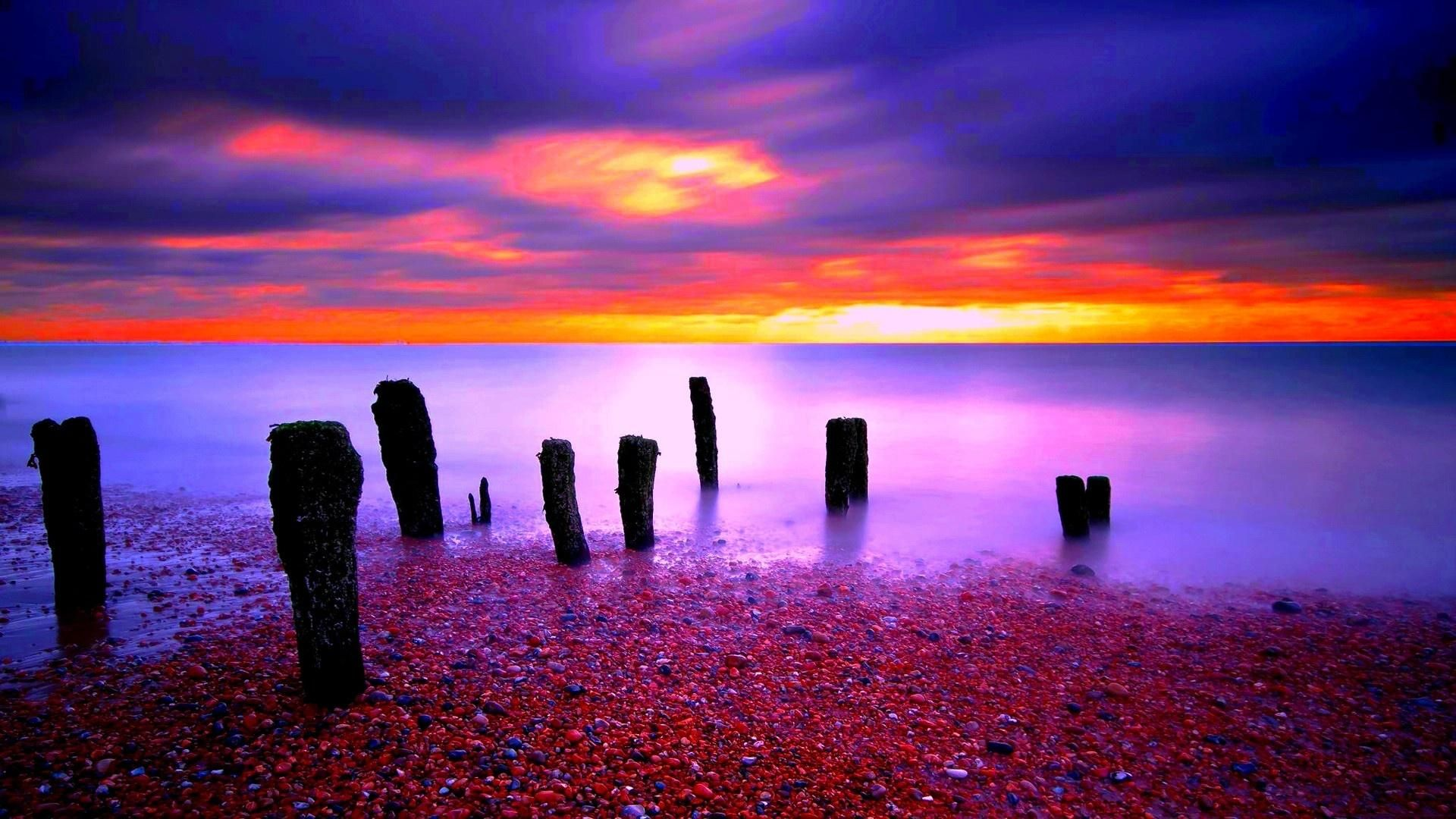 widescreen x the most colorful sunset on nature wallpaper high