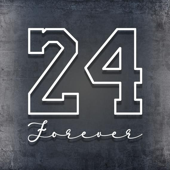 Kobe Bryant 24 Forever Decal | Etsy