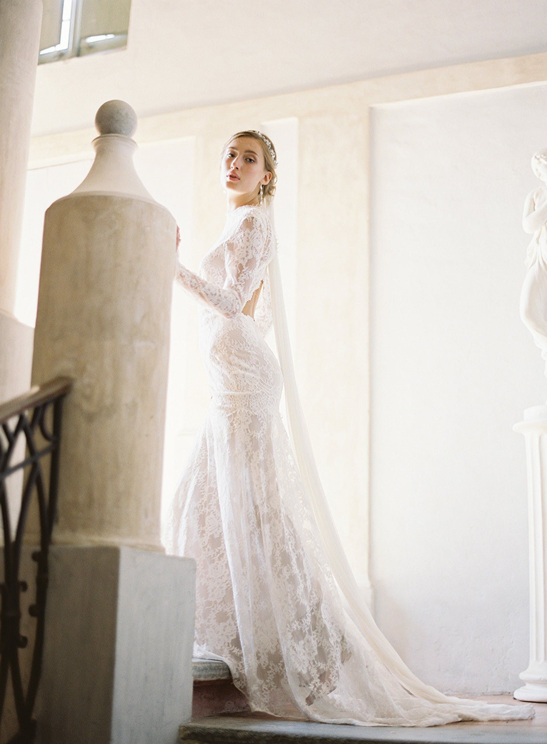 Claire Pettibone Beverly Romantique Lace Wedding Dress With Long Sleeves Long Sleeve Wedding Dress Lace Fitted Lace Wedding Dress Backless Lace Wedding Dress