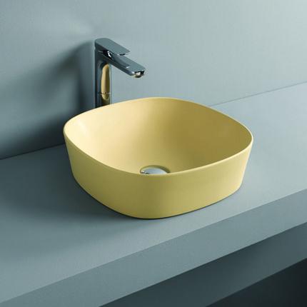 Vasque carrée 42x42 cm à poser sur plan de travail ou meuble de