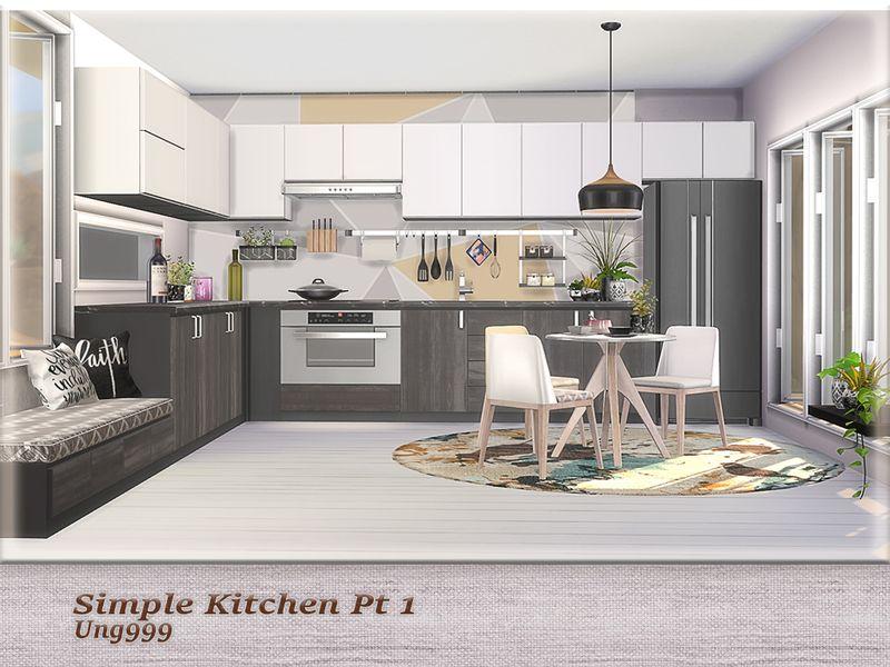 ung999's Simple Kitchen Pt.1 | Sims house, Simple kitchen ...