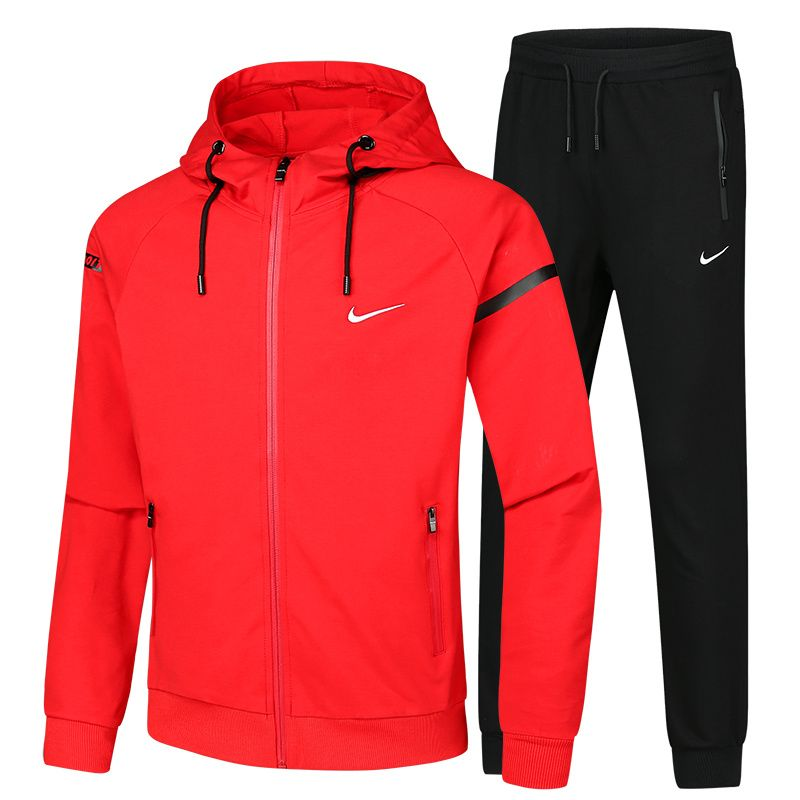 d619506ca25c Spring Summer 2018 Authentic Nike Sportswear Advance 15 Mens Full-Zip  Hoodie L-5XL A-1808 Red Black