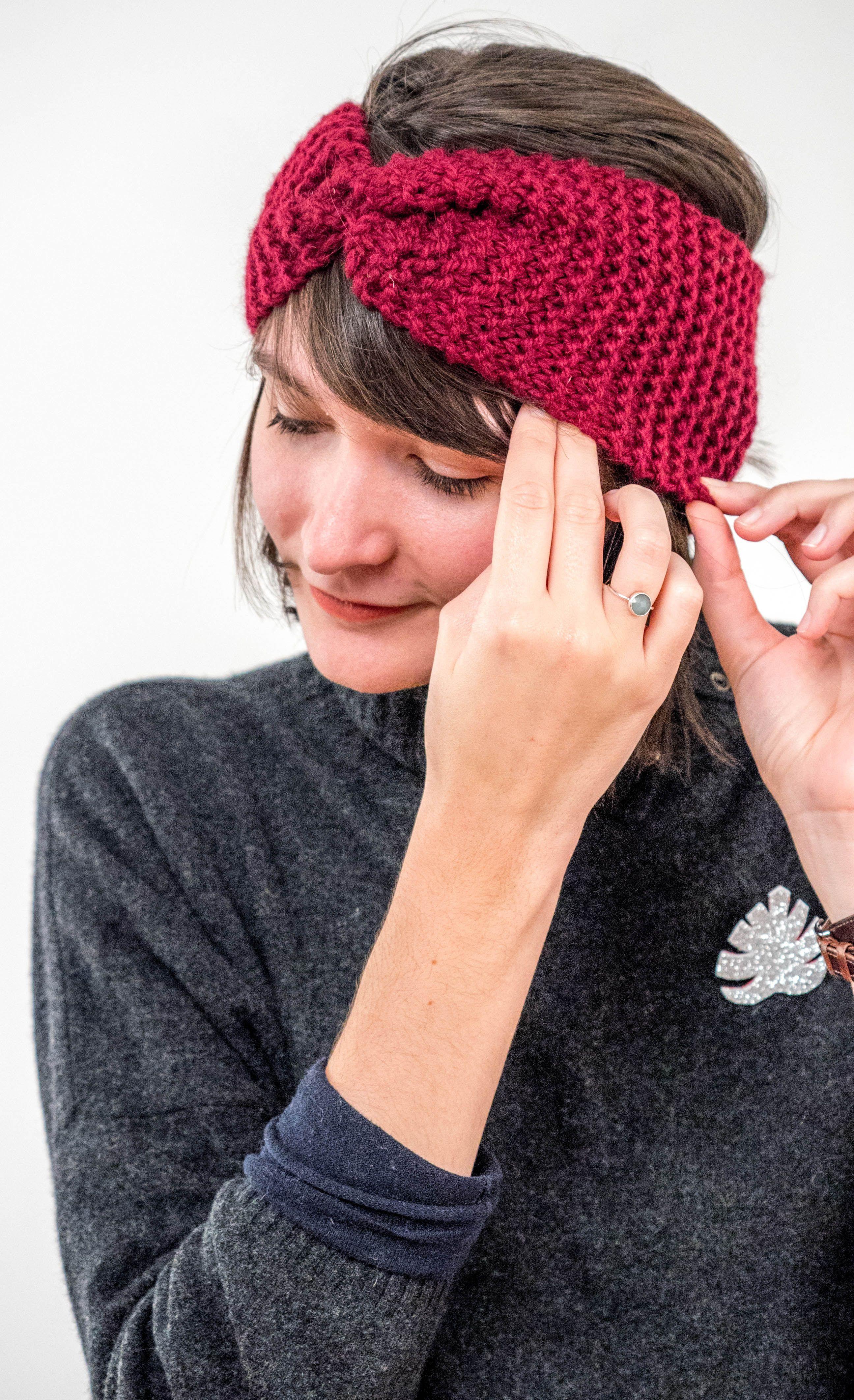 tuto bandeau tricot gratuit