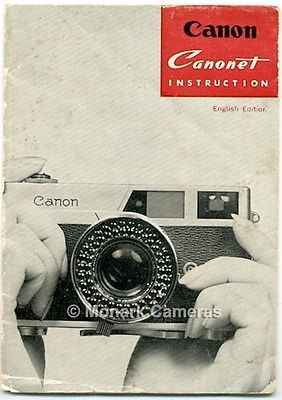 canonet ee camera book 1964 more canon instruction manuals user rh pinterest com Remote Control Instruction Manual Lamp Instruction Manual