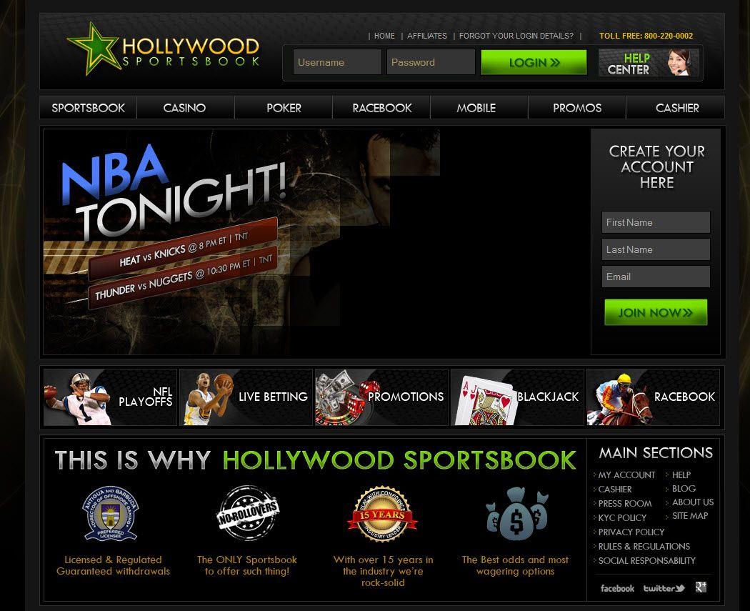 Hollywood Sportsbook Homepage Sportsbook Casino Poker Sport Online