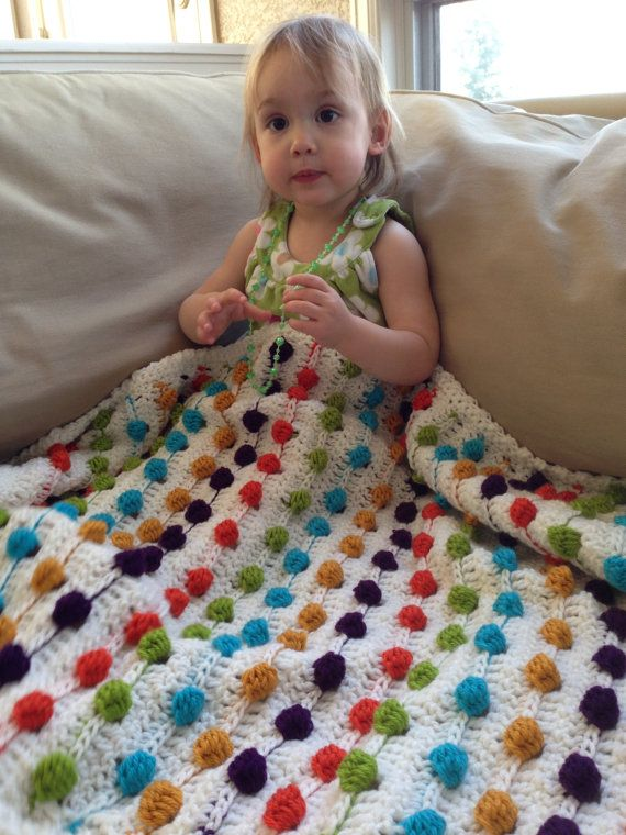 Crazy for Polka Dots Baby Blanket - PDF Crochet Pattern   Patrón de ...