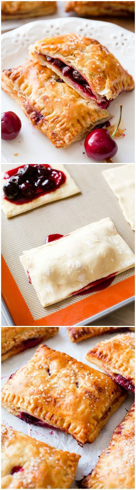 Frozen puff pastry makes these handheld cherry pies SO EASY to make! Recipe foun... - pice o' cake