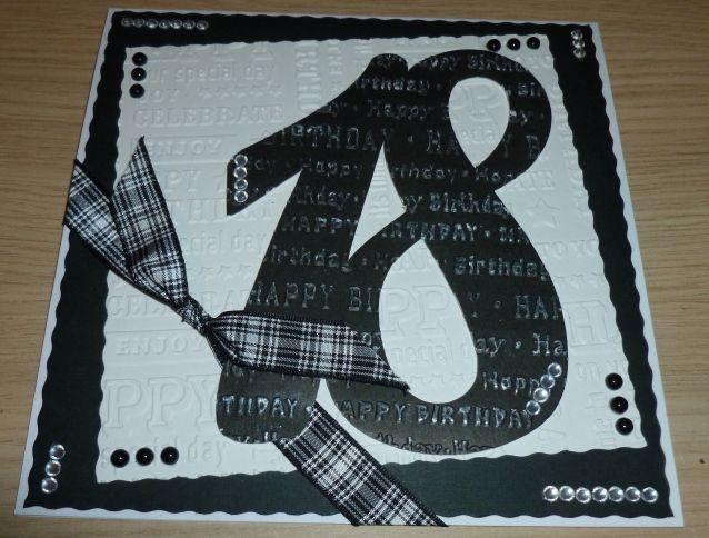 Handmade 18 Th Birthday Card Big Numbers Adult Monochrome