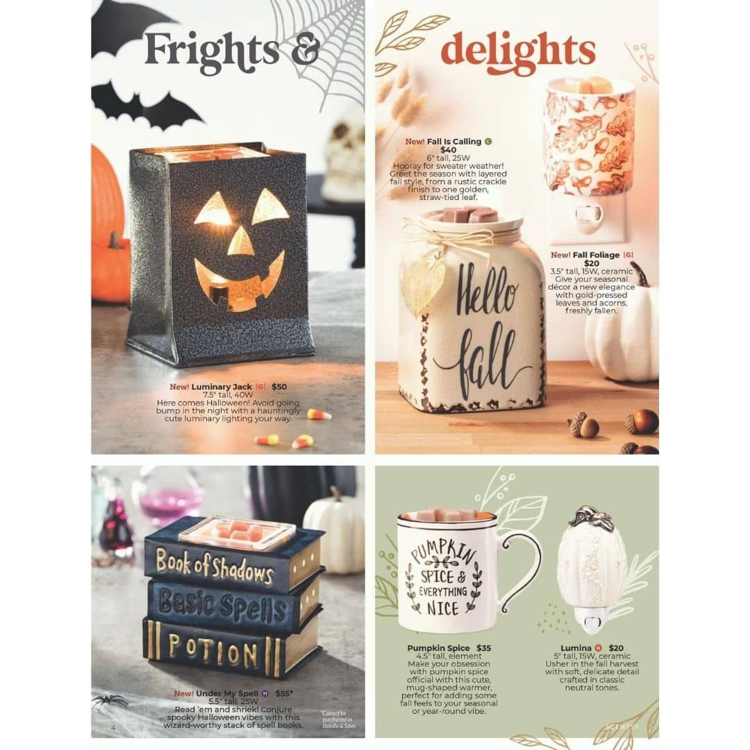 SCENTSY HARVEST HALLOWEEN 2020 COLLECTION SHOP NOW in