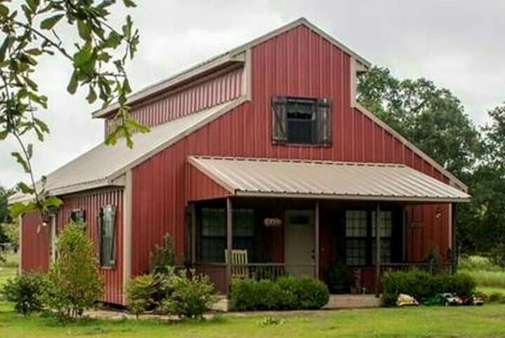 New barn ideas dream home pinterest barn for Metal buildings made into houses