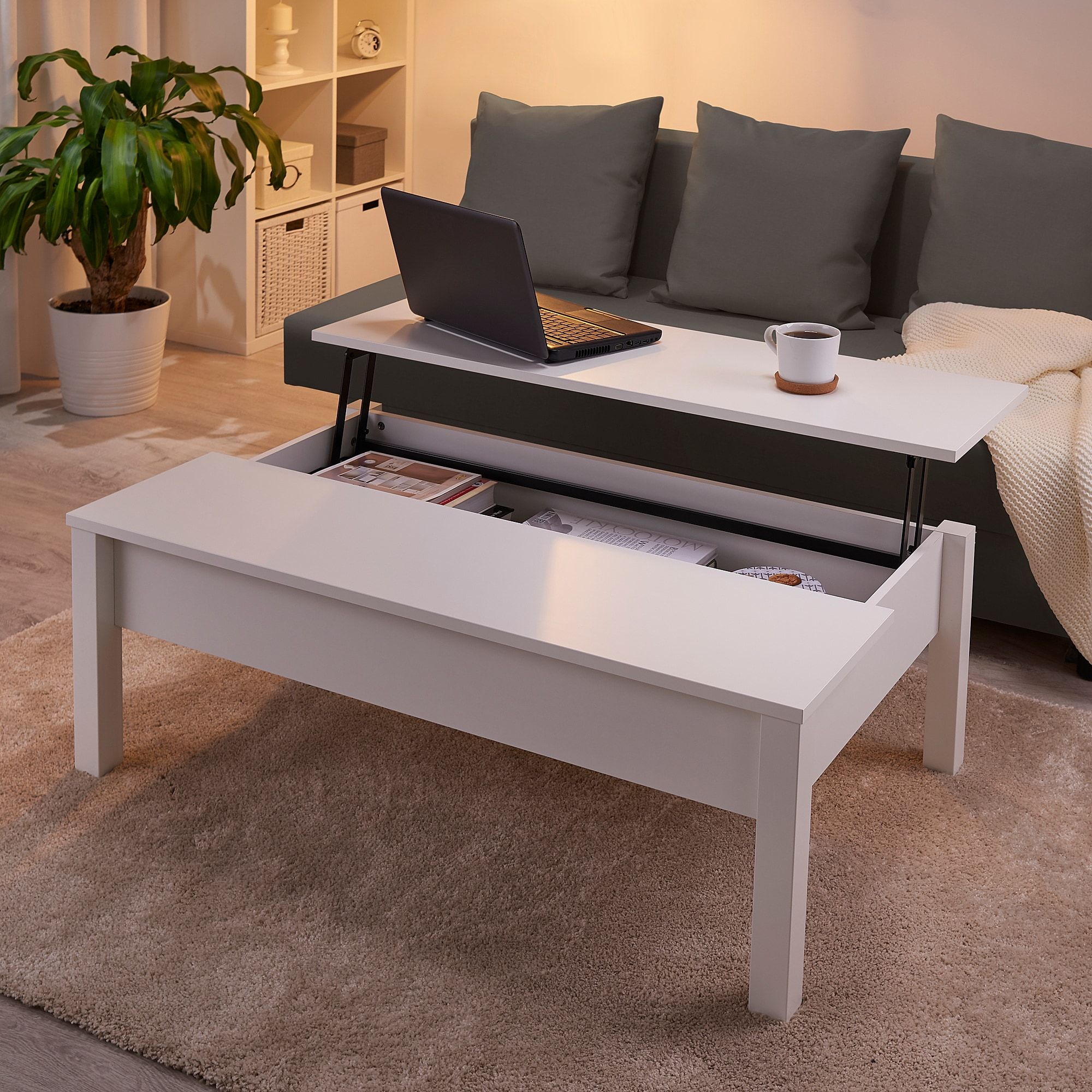 """TRULSTORP Coffee table white 45 1/4x27 1/2 """" in 2020"""