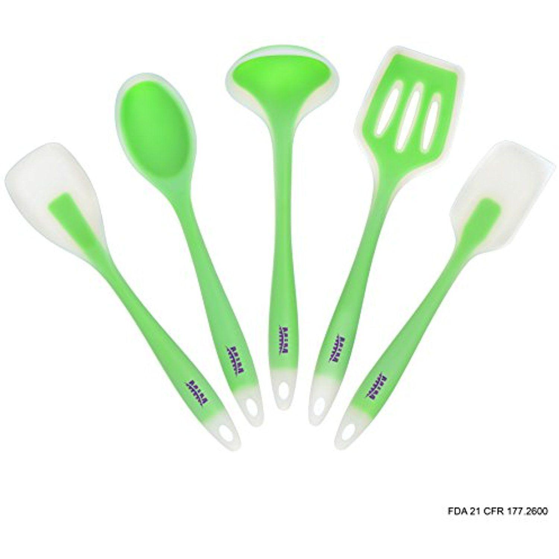 Heat Resistant kitchen utensils, Tool set - Easy to clean - Silicon ...