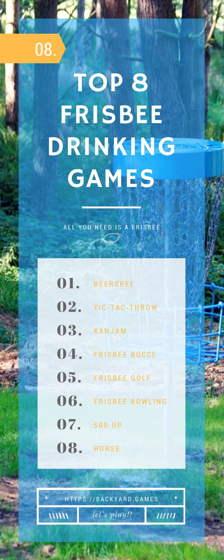 8 best frisbee drinking games camping games