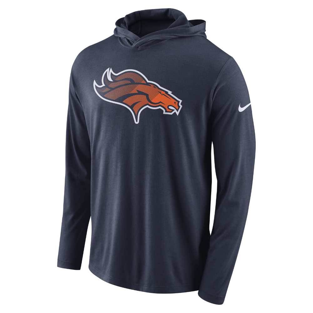 Nike Dry (NFL Broncos) Men s Hoodie Size Medium (Blue)  621e86748