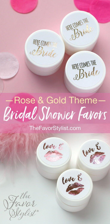 Bridal Favor Lip Balm + Custom Foil Labels | Shower favors ...