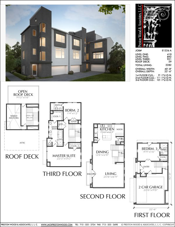 3 1 2 Story Townhouse Plan E1226 A Townhouse Exterior Architecture How To Plan
