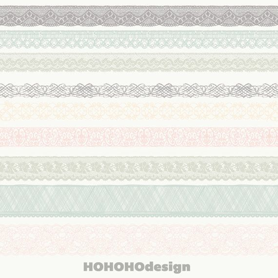Lace Border Clip Art  Digital Scrapbook Borders by HOHOHOdesign, £3.00