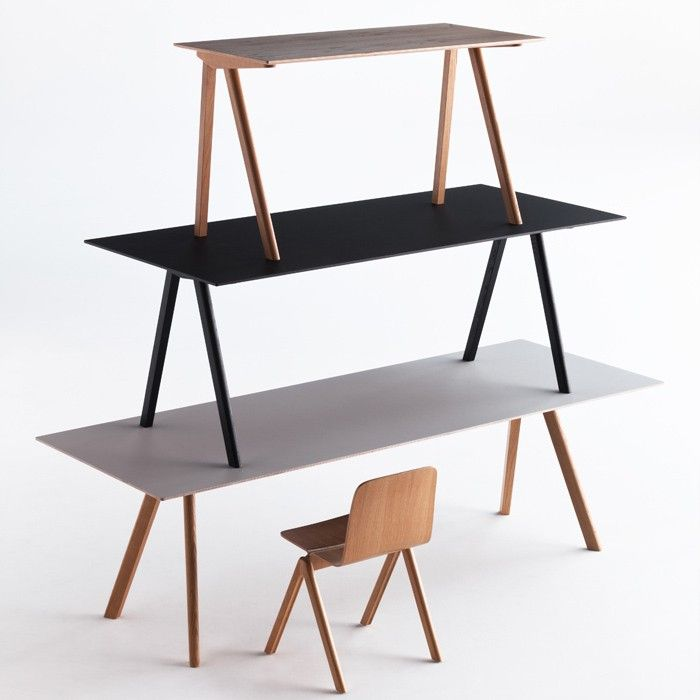 Hay Design Copenhague CPH10 Tisch Eiche Grau 160 x 80 cm Design - wohnzimmer eiche grau