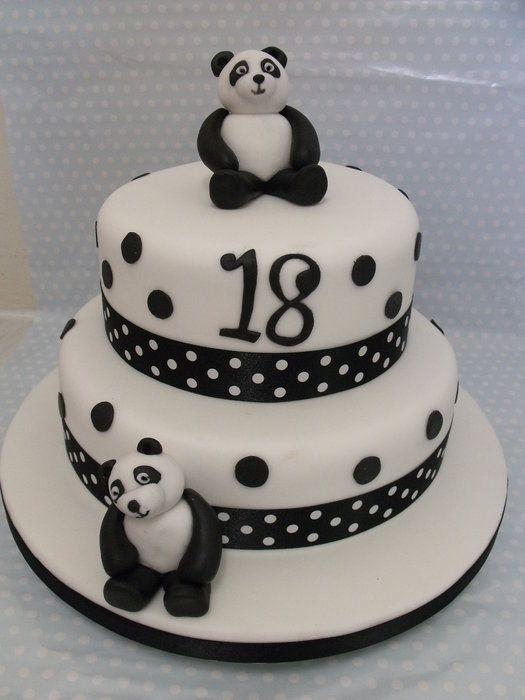 Peachy 18Th Birthday Panda Cake Panda Birthday Cake Panda Bear Cake Funny Birthday Cards Online Alyptdamsfinfo