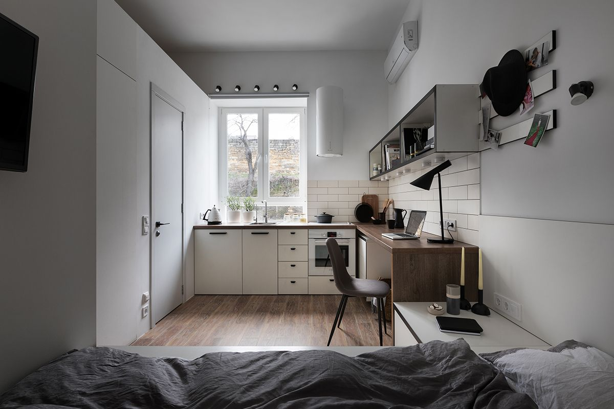 renovierte wohnung kenzo olga akulova, odessa, le studio rénové et fonctionnel de 17m2 conçu par fateeva, Design ideen