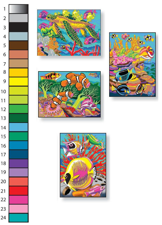 creative haven sea life paint by number by george toufexis dover publications full color page. Black Bedroom Furniture Sets. Home Design Ideas
