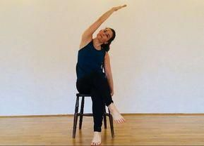 6 chair yoga poses to strengthen the entire body for all