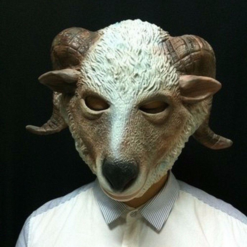 Homestia 1pc Sheep Mask High Quality Halloween Costume Theater ...