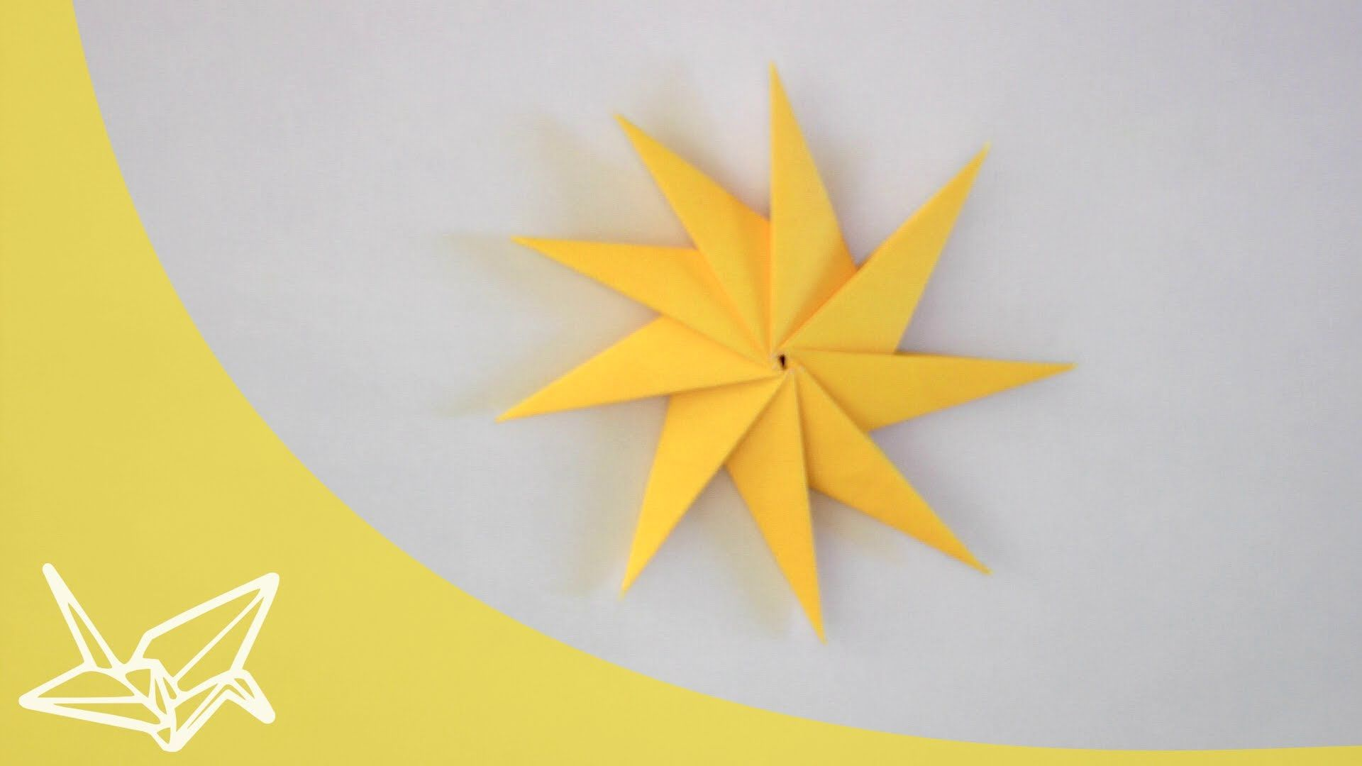 Spinning Star Or Sun Origami Pinterest Origami Asian Crafts