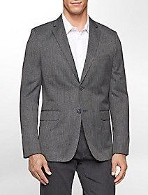 slim fit jaspe textured suit jacket $139.99