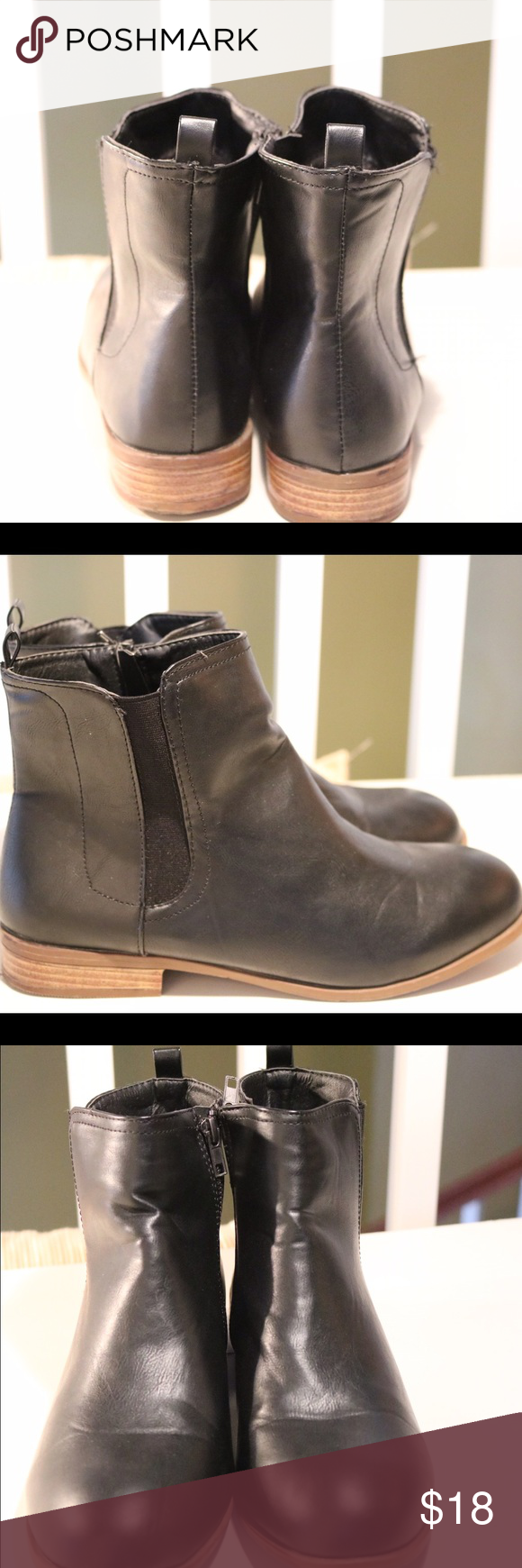 Black Booties Like new, barely worn black booties. 😊 Shoes Ankle Boots & Booties