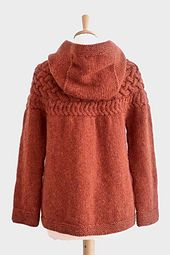 Ravelry: Cable Yoke Jacket pattern by Kyoko Nakayoshi