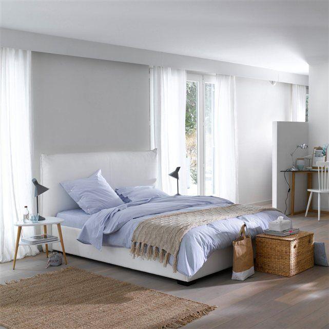 lit coffre avec sommier relevable pancho | lits rembourrés, lit