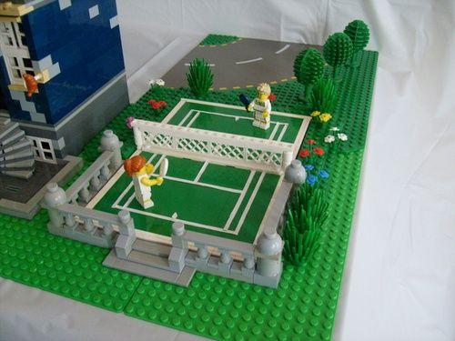 Custom Lego Tennis Court Lego Creations Lego Design Lego