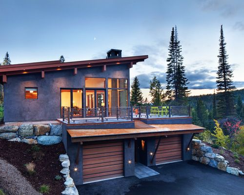 Underground Garage Modern Mountain Home Garage House Plans Contemporary Cabin