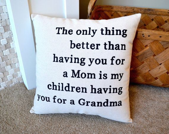 New Grandma Gift, Decorative Pillows, Mothers Day Gift from Daughter, Pregnancy Announcement Grandparents, Pregnancy Reveal to Grandma #newgrandma Canvas Grandma Pillow New Grandma Gift Home by NanaNewHandmade #newgrandma