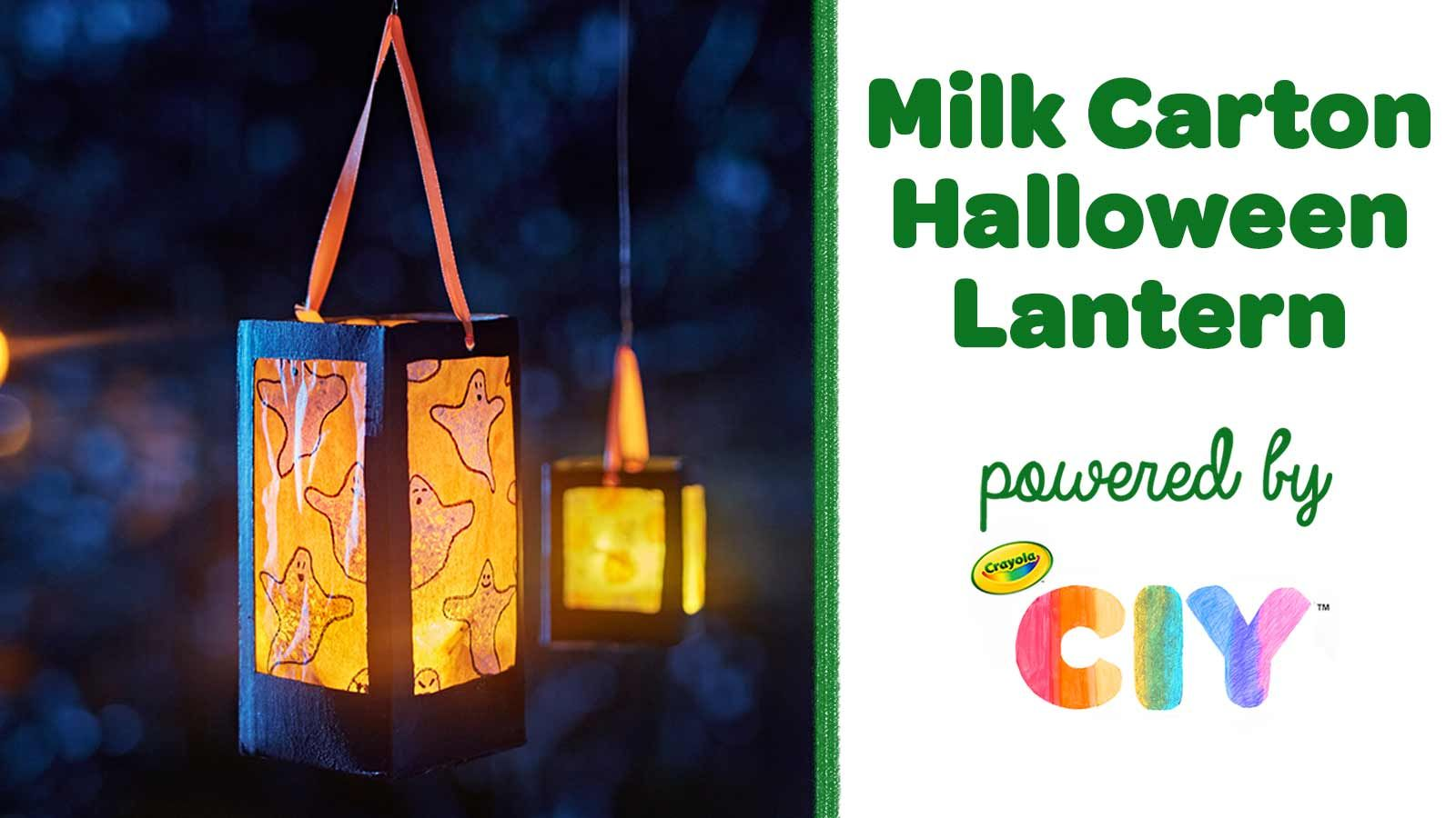 Halloween 2020 Nome Milk Milk Carton Halloween Lantern in 2020 | Halloween lanterns, Easy
