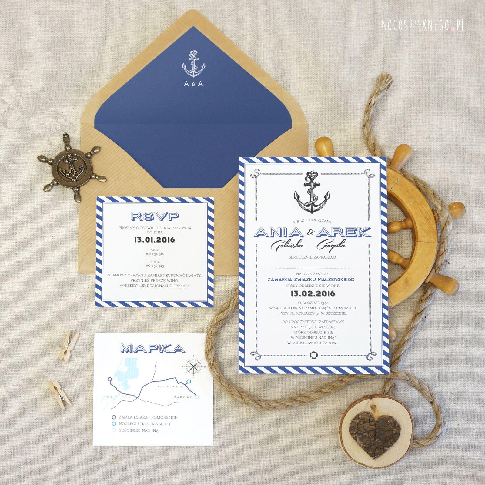 By The Sea Zaproszenia Slubne Oryginalne Zaproszenia Wyjatkowe Projekty Wesele No Cos Pieknego Place Card Holders Place Cards Cards