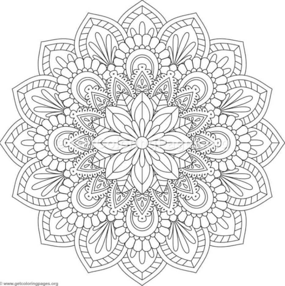 Färben von Mandalas in 2020 Mandala malvorlagen Mandala
