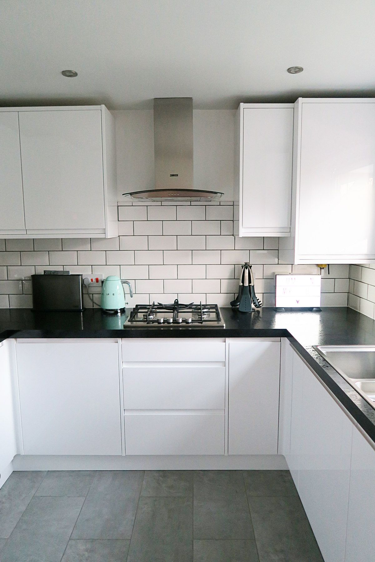 Our new kitchen which we designed with Wickes. I love the