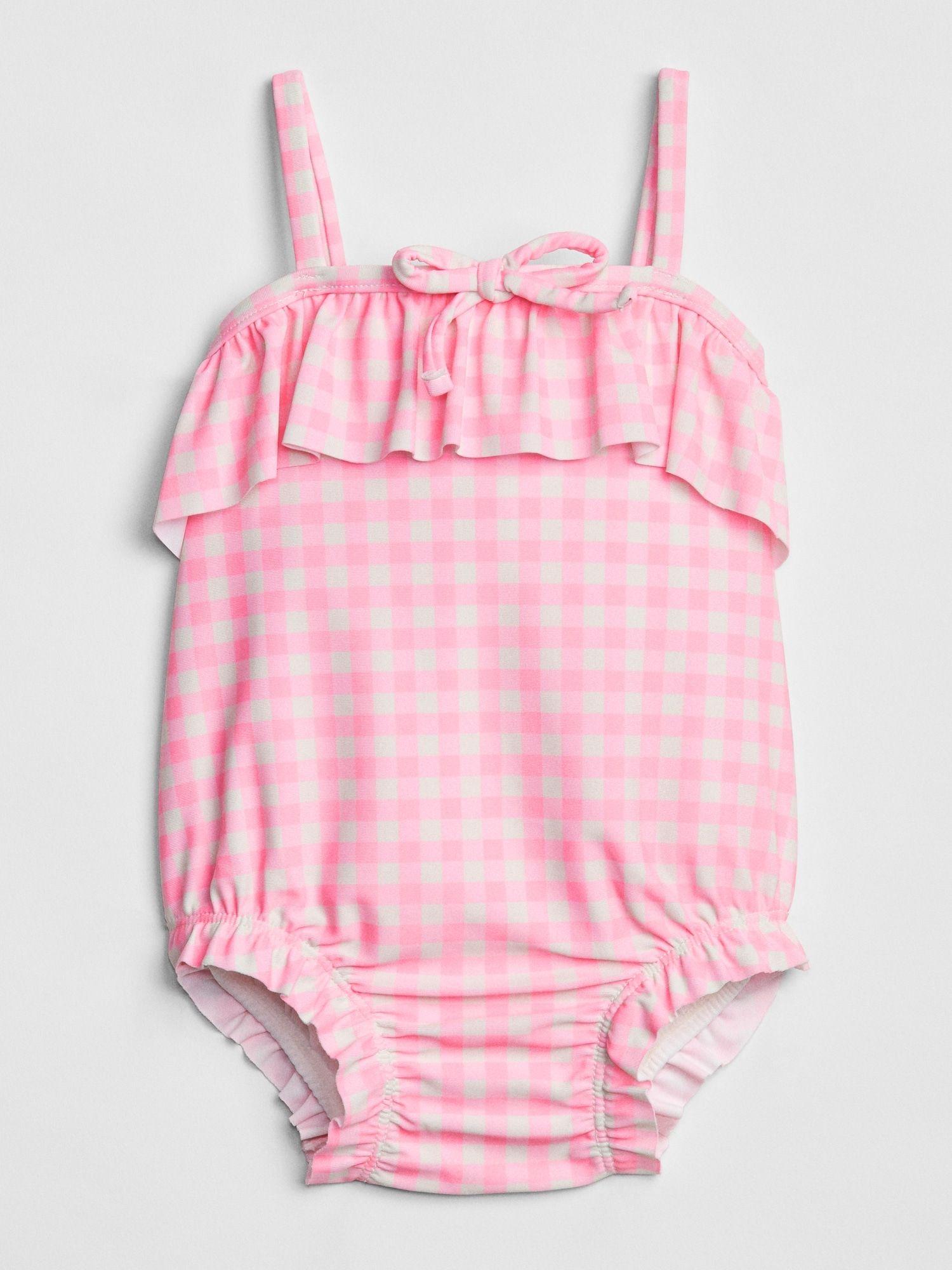 Baby Gap Girls Ruffle swim one-piece New With Tags