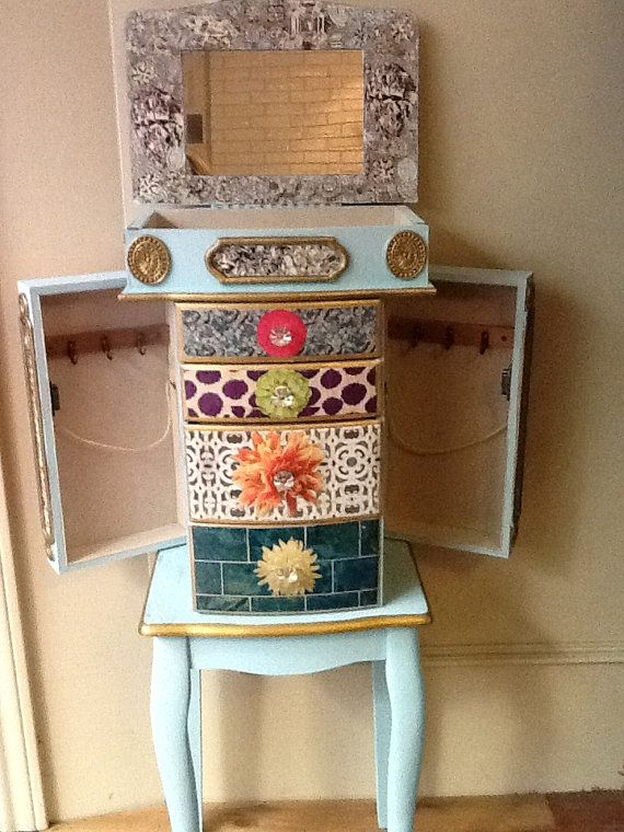 Collage Jewelry Armoire Jewelry Box house ideas Pinterest