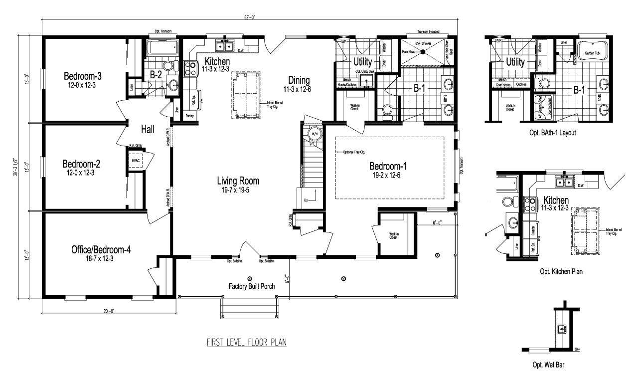 Nationwide Modular Homes Floor Plans: Palm Harbor's The Greenbrier III Is A Manufactured Home Of