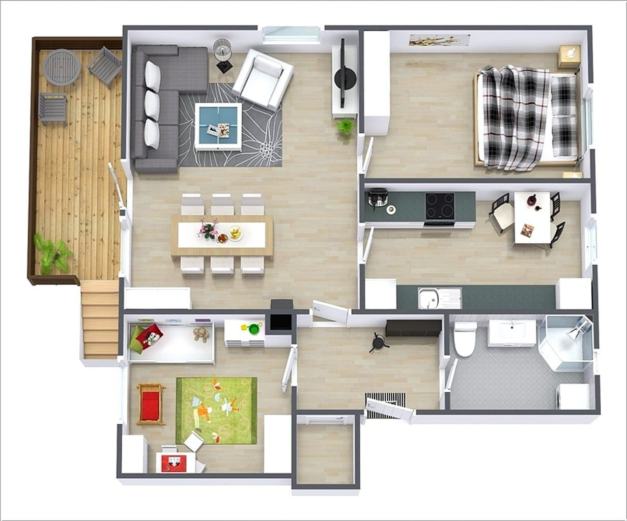 35 Awesome Apartment 3d Floor Plan Ideas Engineering Discoveries In 2021 Best Interior Design Websites Home Design Software Cool Apartments