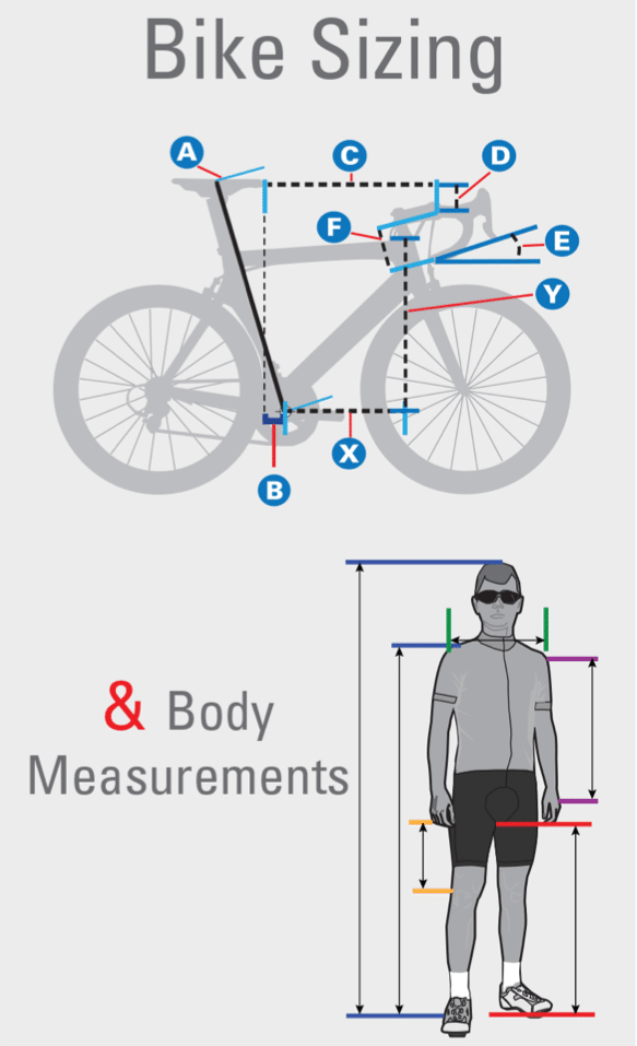 Road Bike Frame Sizes – Find & Fit The Right Bicycle for You | Frame ...