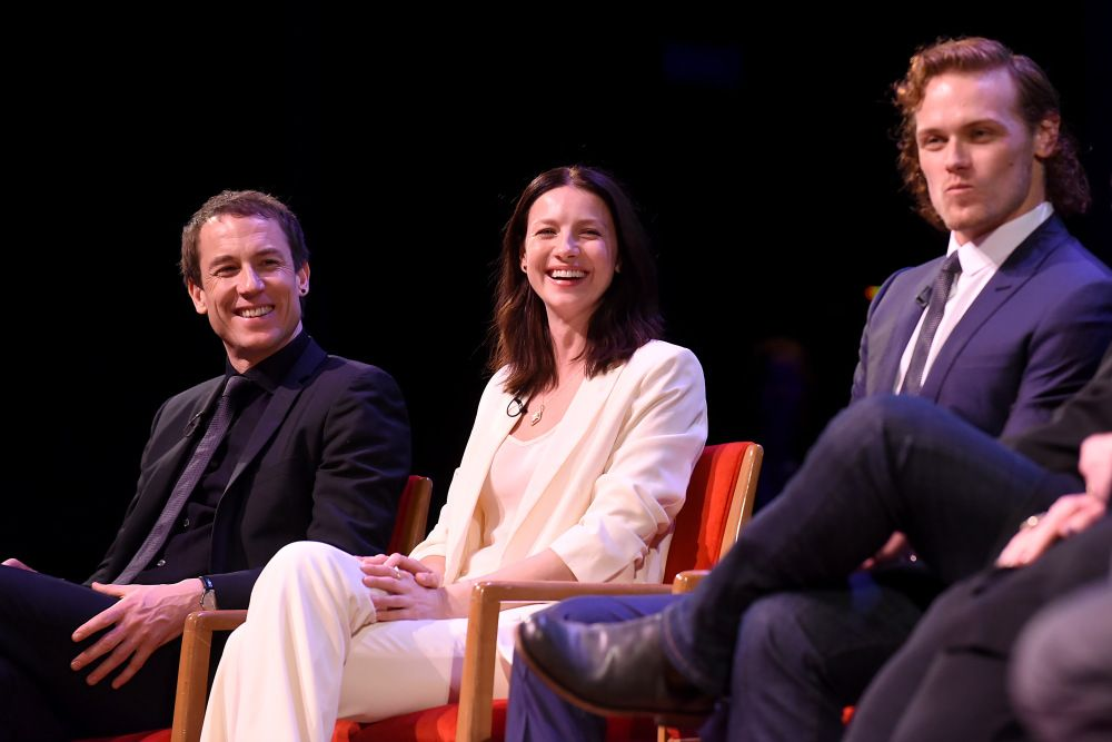 HQ Pics of the Outlander cast at The Academy's 'Outlander: From Scotland to Paris' Panel | Outlander Online