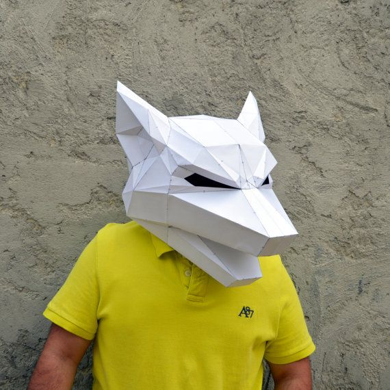 Make Your Own Wolf Mask. | wolf mask | forest animal | papercraft ...