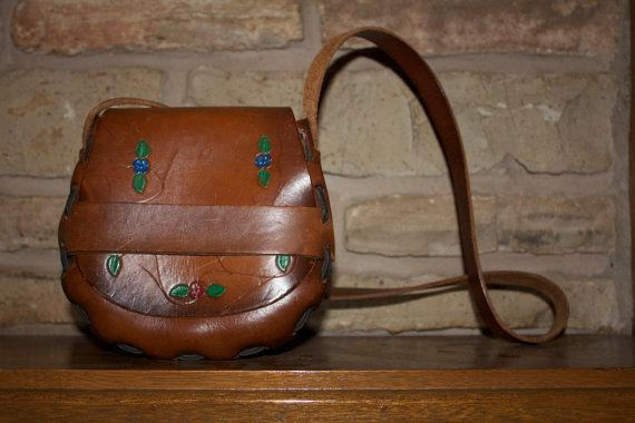 Leather Mini Satchel Folk Indie Purse by MBlackArt on Etsy, $26.00