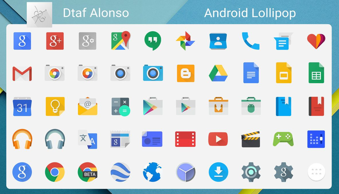 Android Lollipop Icons By Dtafalonso On Deviantart Free Icons Web Design Tools Android Icons